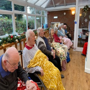 Residents at Larks Leas Rest Home Christmas Singalong